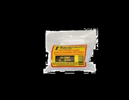 Pro-Shot .45-.58 Cal. Black Powder 100 Count Patches - 105