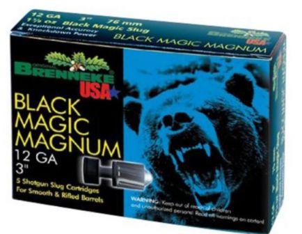 "Brenneke Black Magic Magnum 3"" 12 Gauge Ammo"