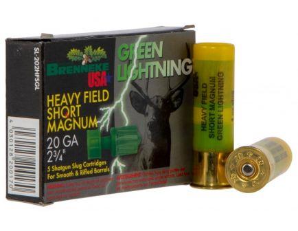 """Brenneke USA Green Lightning 20 Gauge 2.75"""" Shotgun Slug, 5/box - SL-202HFSGL"""