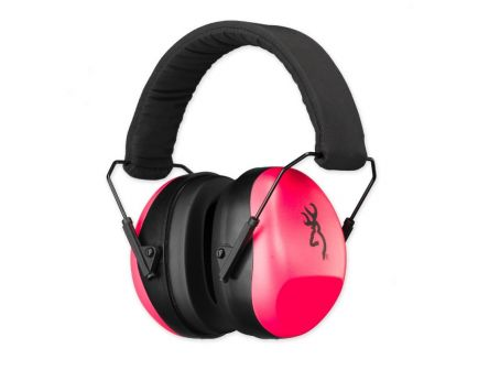 Browning Buckmark II Hearing Protector Earmuffs, Pink - 12687