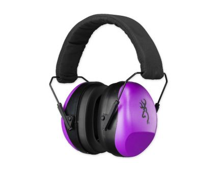 Browning Buckmark II Hearing Protector Earcups, Purple - 126396