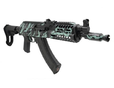 PSA Custom AK-P 7.62x39mm MOE ALG Fire Control Group Rail Pistol w/ SBA3 Brace - Tiger Stripe