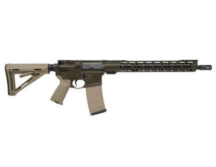 "PSA Custom .300 AAC BO 16"" Nitride Carbine Length 15"" V2 Slant MLOK MOE Rifle - OD Green/Tan"