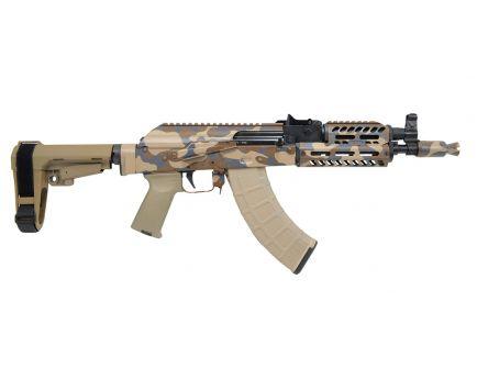 PSA Custom AKP 7.62x39mm MLOK Billet Rail SBA3 Brace Pistol w/ ALG AKT-EL Trigger - Camo