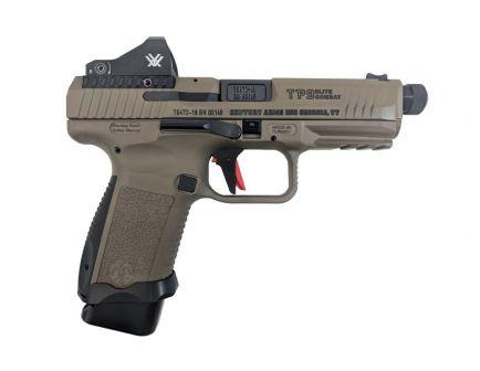 Canik TP9S Elite Combat 9mm Pistol With Vortex Viper, FDE