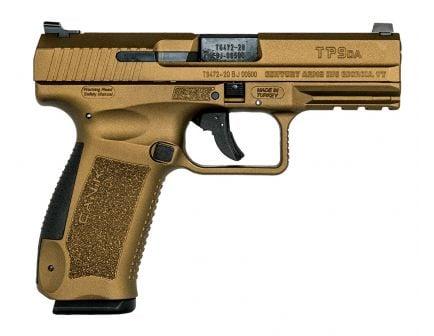 """Canik TP9DA 4.07"""" 9mm Pistol, Burnt Bronze  - HG4873B-N"""