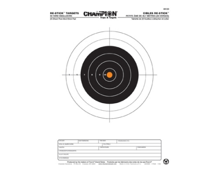 Champion Re-Stick 50yd Smallbore Target 46120