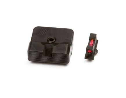 ZEV Sight Set, .215 Fiber Optic Front, Combat v2 Black Rear - - SIGHT.SET-215-FO-COM2-B