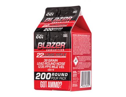 CCI BLAZER 22 LR Ammo 38 Grain LRN 200rds -10019