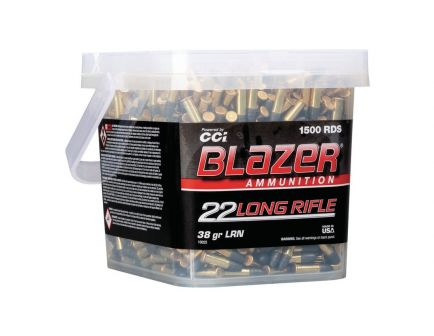 CCI Blazer Rimfire .22 LR 38 gr LRN 1500 Rounds Ammunition
