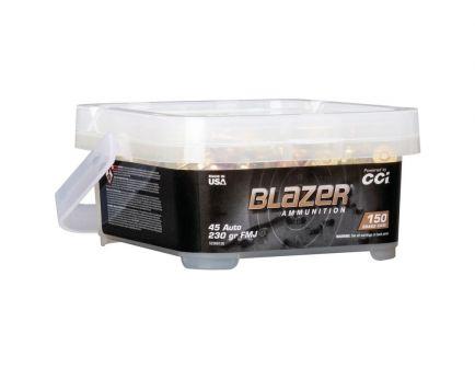 CCI Blazer Brass .45 ACP 230 gr FMJ 150 Round Bucket