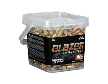 CCI Blazer Brass 9mm 115 gr FMJ 500 Rounds Ammunition