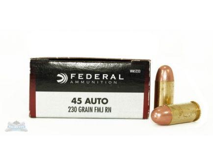 Federal 45 Auto/ACP 230gr FMJ Champion Ammunition 50rds - WM5233