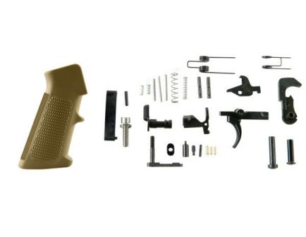 AR-15 Lower Parts Kits in Coyote Tan