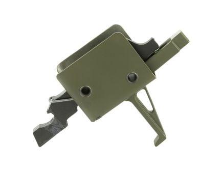 CMC Match Flat Single Stage AR-15 Trigger, OD Green