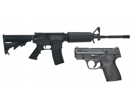 "PSA 16"" M4 Carbine-Length 5.56 NATO 1/7 Nitride Classic Rifle & Smith & Wesson M&P Shield 9mm Combo"