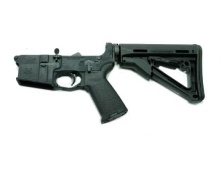 Black Magpul CTR AR 15 complete lower receiver