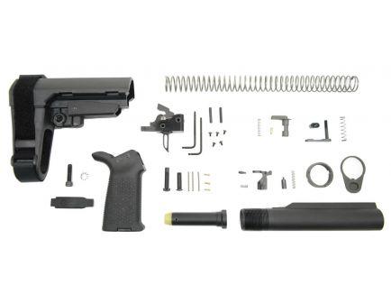 PSA SBA3 MOE Pistol Lower Build Kit With PSA Custom Single Stage FCG, Black