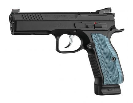 CZ Shadow 2 Optics Ready 9mm Pistol With Blue Grips For Sale