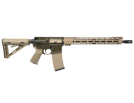 """PSA Custom 5.56 NATO Mid-Length 16"""" Nitride 15"""" V2 Slant MLOK MOE Rifle - Tan/ODG"""