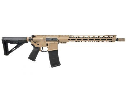 "PSA Custom .300 AAC BO Carbine-Length 16"" Nitride 15"" V2 Slant MLOK MOE Rifle - Tan/Black"