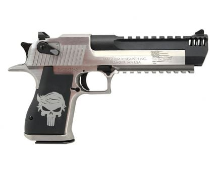 Magnum Research Desert Eagle Trump Punisher 50 AE Pistol, Brushed Stainless - DE50SRMBC3