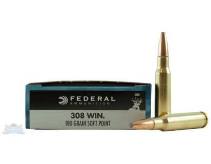 federal 308 180 grain sp power-shok 20 round ammunition