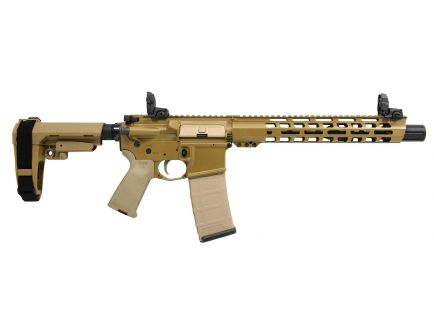 "PSA Custom 5.56 NATO 10.5"" Nitride, 12.5"" Cross-Cut Handguard, SBA3 Pistol w/ MBUS"