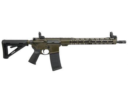 """PSA Custom 5.56 NATO 16"""" Nitride Mid-Length 15"""" V2 Slant MLOK MOE Rifle  w/ MBUS"""