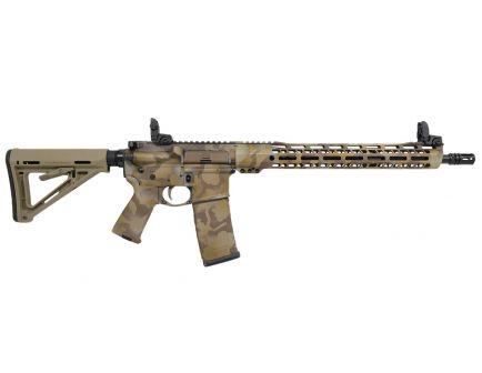 """PSA Custom """"Desert Warrior"""" 5.56 NATO 16"""" Nitride Mid-Length 15"""" V2 Slant MLOK MOE Rifle w/ MBUS & NIB FCG"""