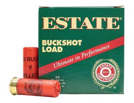 "Estate 2.75"" 00 Buckshot 12 Gauge Ammunition 25 Rounds"