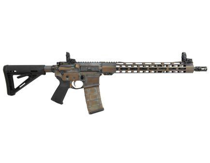 "PSA Custom 5.56 NATO, 16"" Nitride, 15"" Slim-Line MLOK MOE Rifle w/ MBUS, Weathered Penny"