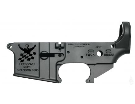 """PSA AR-15 """"LETSGO-15"""" Stripped Lower Receiver *Pre-Order - Ships in Approximately 10-12 Weeks"""