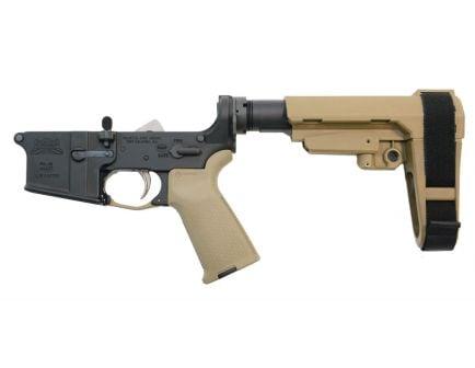 Flat dark earth complete AR 15 pistol lower