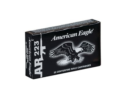 american eagle 223 55 grain fmj ammo 20 rounds