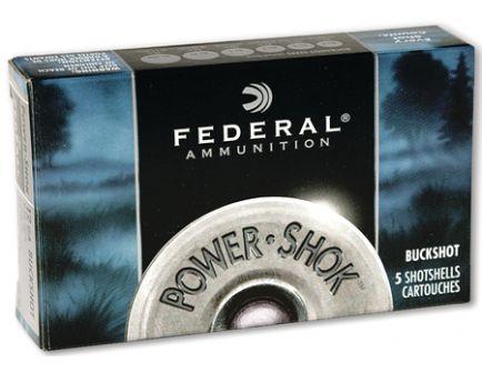 "Federal 12ga 3"" Magnum 15 Pellets 00 Buck Power-Shok Shotshell Ammunition 5rds - F131 00"