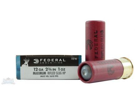 """Federal 12ga 2.75"""" Max 1oz HP Power-Shok Shotshell Ammunition 5rds - F127 RS"""