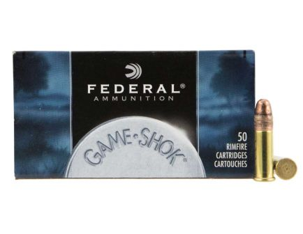 Federal 22 Long Rifle 40 Grain Copper Plated Solid Game-Shok 50rs Per Box - 710