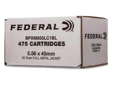 Federal XM855 62 Grain FMJBT 5.56 Ammo, 475rds  - BPXM855LC1BL
