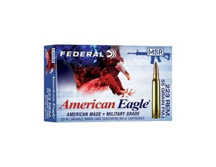 Federal American Eagle 55 gr FMJ .223 Remington 20 Rounds