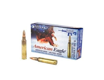Federal American Eagle 55 gr FMJ-BT 5.56x45 Ammunition 20 Rounds
