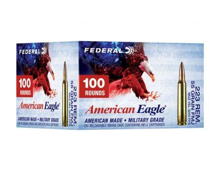 Federal American Eagle 55 gr FMJBT .223 Remington Ammunition, 100 Rounds