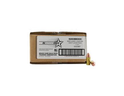 Federal Independence 115 gr FMJ 9mm Ammunition 500 Round Value Pack
