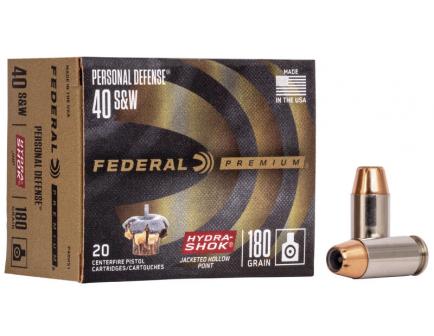 Federal 40 S&W Ammo 180 Grain JHP P40HS1