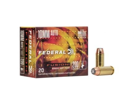 Federal Premium Fusion 200 gr Bonded SP 10mm Ammunition 20 Rounds