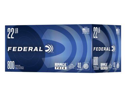 Federal Range Pack 40gr HV LRN .22 Long Rifle  Ammunition 800 Rounds