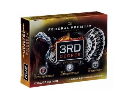 "Federal Premium 3rd Degree with Heavyweight TSS 3.5"" 12 Gauge Ammo 5, 6, 7, 5/box - PTDX139 567"