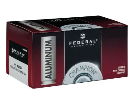Federal Champion 45 ACP 230 gr FMJ Aluminum Cased 50 Rounds