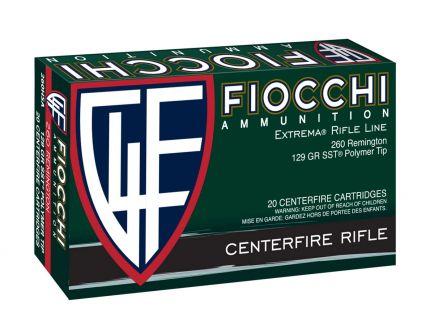 Fiocchi Extrema 129 gr SST 260 Remington Ammunition 20 Rounds