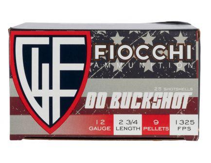 "Fiocchi High Velocity 2.75"" 00 Buckshot 12 Gauge Ammunition 25 Rounds"